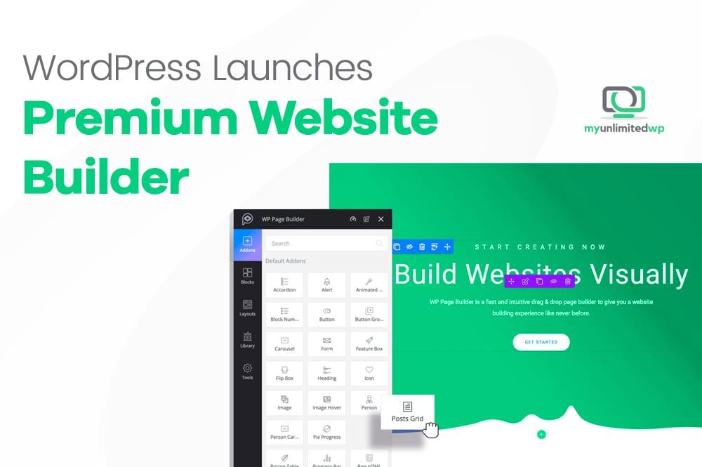 premium website builder launch