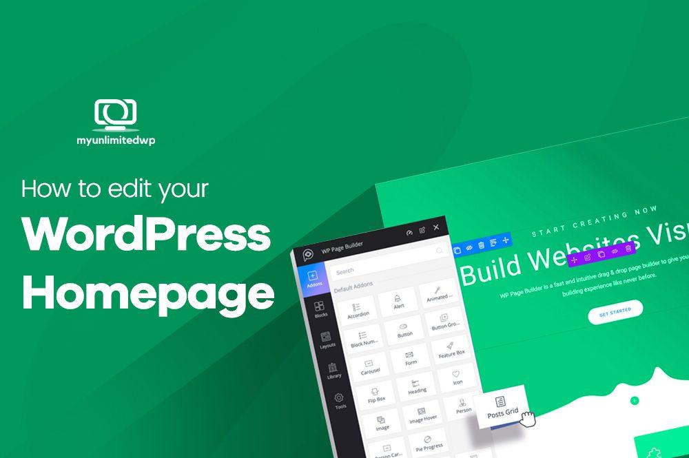 Edit your WordPress homepage